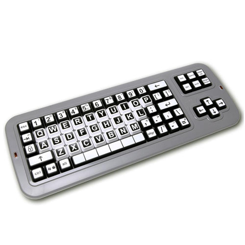 Clevy Contrast Keyboard - High Visibility