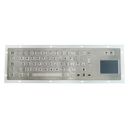 KBS-PC-BT Panel Mount Stainless Steel Keyboard with Touchpad