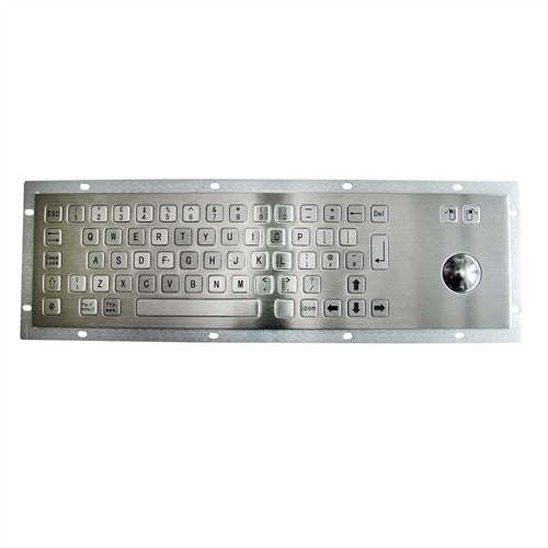 KBS-PC-B Stainless Steel Keyboard with Trackball