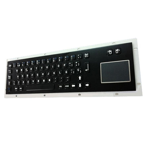 KBS-PC-DT-BL Stainless Steel Keyboard with Touchpad