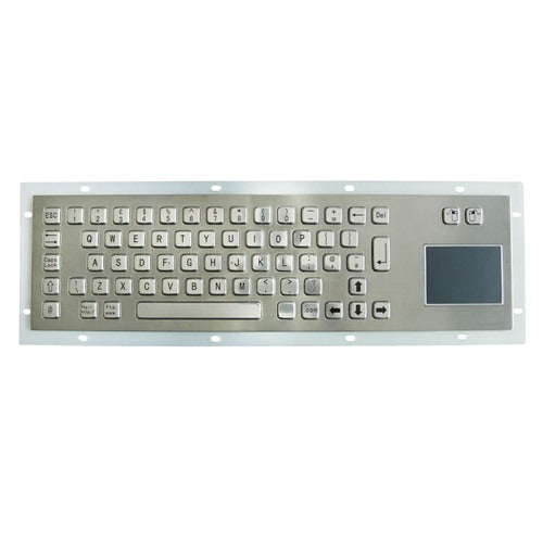KBS-PC-DT Stainless Steel Keyboard with Touchpad