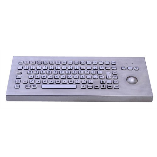 KBS-PC-F2-DESK Desktop Stainless Steel Keyboard with Trackball and FN Keys