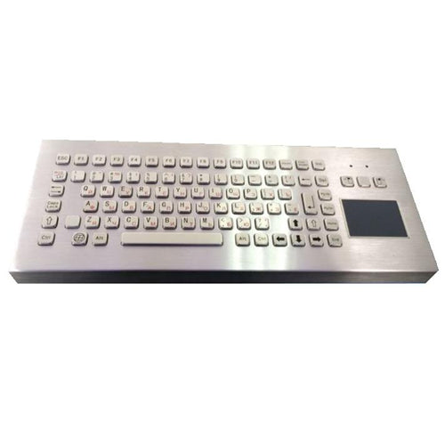 KBS-PC-F2T-DESK Stainless Steel Desktop Keyboard with Touchpad