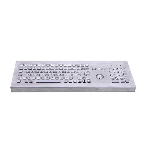 KBS-PC-F3-DESK Desktop Stainless Steel Keyboard with Trackball, FN Keys