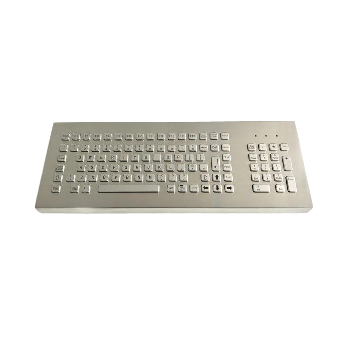 KBS-PC-F4-DESK Desktop Stainless Steel Keyboard with keypad and FN Keys
