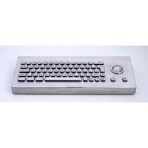 KBS-PC-H-Desk Stainless Steel Keyboard with Integrated Trackball
