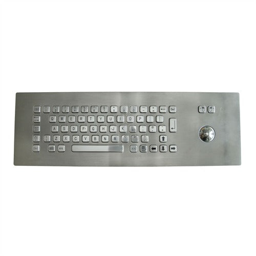KBS-PC-I-3 Stainless Steel Keyboard with Integrated Trackball