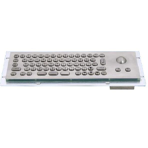 KBS-PC-MINI-T Compact Stainless Steel Keyboard with Trackball