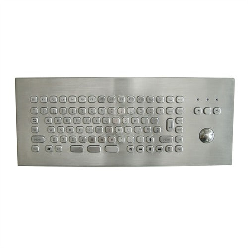 KBS-PC-MINI2-DESK Stainless Steel Compact Desktop Keyboard