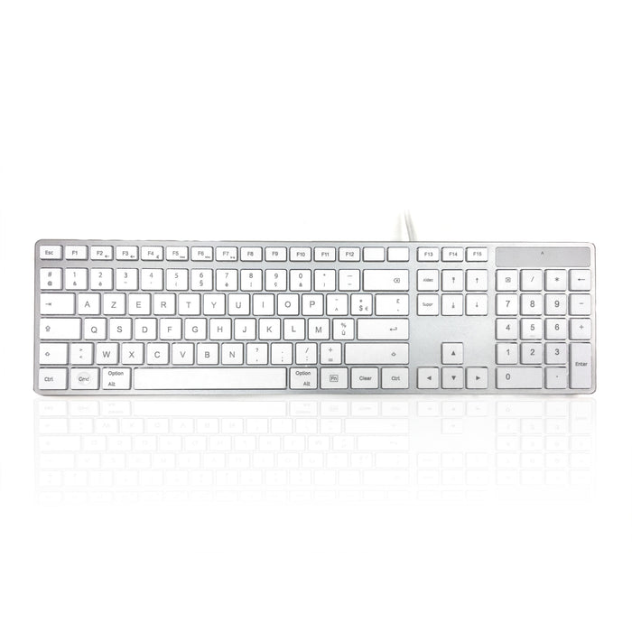 Accuratus KYB-301 Full Size Apple Mac Multimedia language keyboard