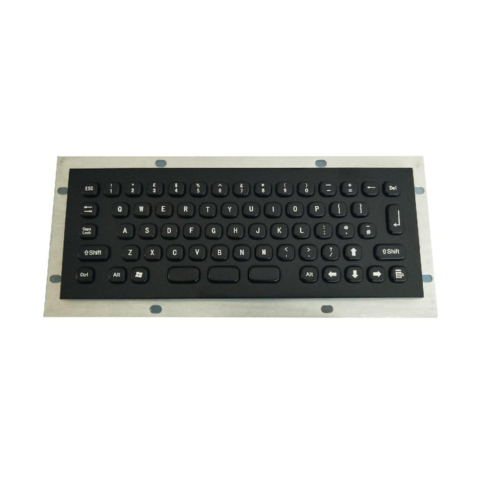 KBS-PC-MINI-BL Compact Panel Mount Stainless Steel Keyboard