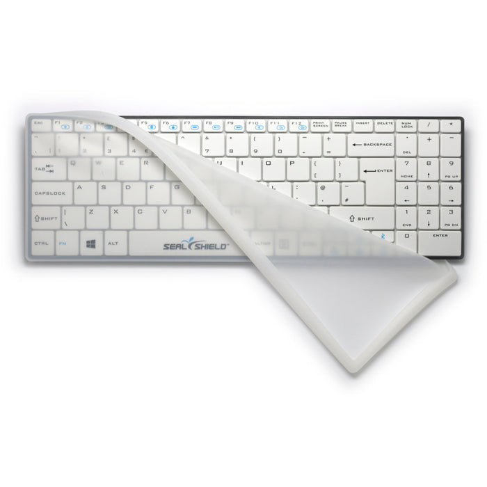 Seal Shield Clean Wipe Bluetooth Mini UK Keyboard Waterproof with Removable Cover