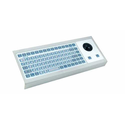 InduKey TKF-085a-TB38-KGEH Flat Input Keyboard with Integrated Trackball