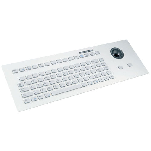 Indukey TKG-083-TB38-MODUL-SILVER Silicone Keyboard with Integrated Trackball