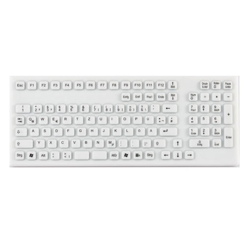 Indukey TKG-106-IP68-WHITE-USB Smart Clinical Keyboard