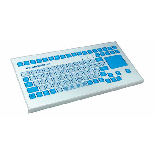 InduKey TKS-088a-TOUCH-AM-KGEH Medical Keyboard with Integrated Touchpad