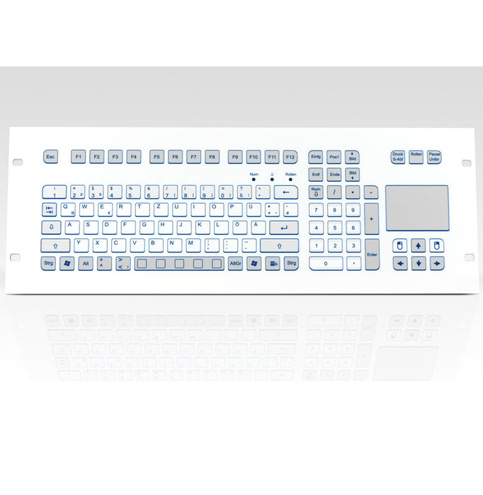 InduKey TKS-105c-TOUCH-FP-4HE Keyboard with Integrated Touchpad