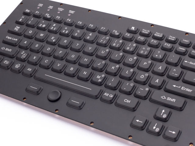iKey TMLT-870-OEM Thin Military Keyboard with Integrated FSR Pointing Device