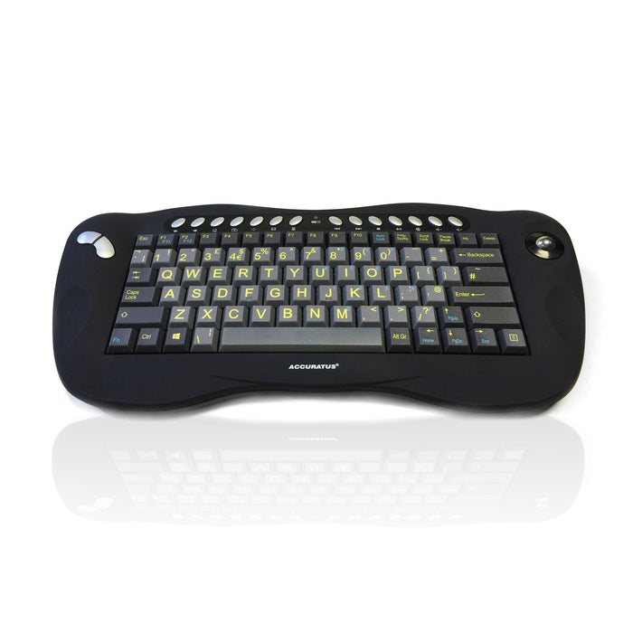 Accuratus Toughball HIVIS Keyboard with Integrated Trackball