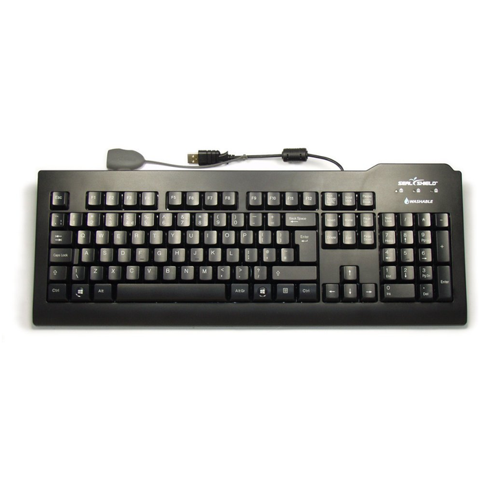 Silver Seal The Antimicrobial Washable Keyboard in Black