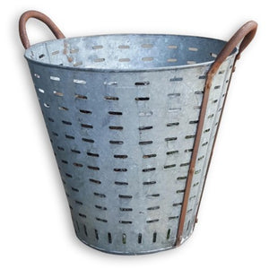 Antique French Grape Bucket