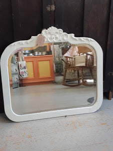 antique white mirror - rounded rectangular