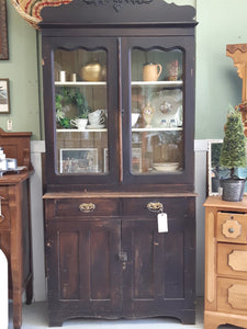 XVIII Vintage hutch with top glass cupboards