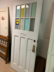 Antique door with glass