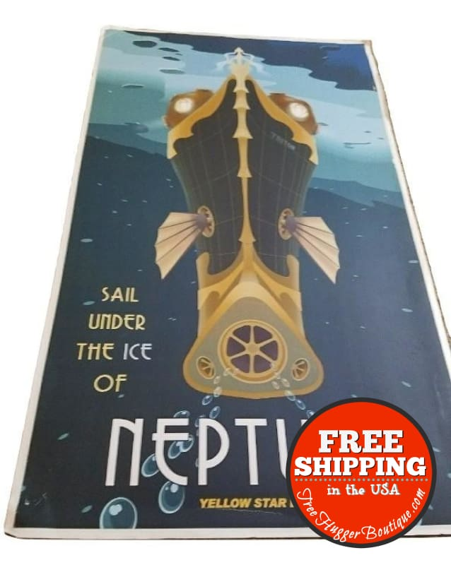 Neptune Retro Ad/poster Print - Home Decor