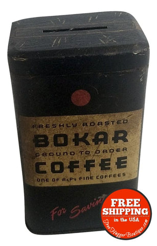 Bokar Coffee Tin Coin Bank - tin