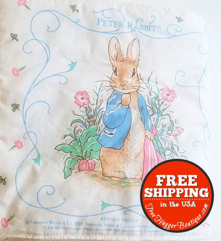 Hand Sewn Peter Rabbit Soft Baby Book - Childrens Books