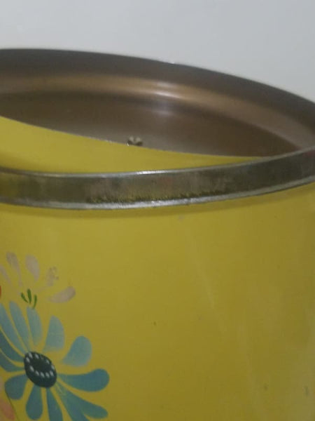 Ravensburg 4Pc Yellow Floral Metal Canister Set