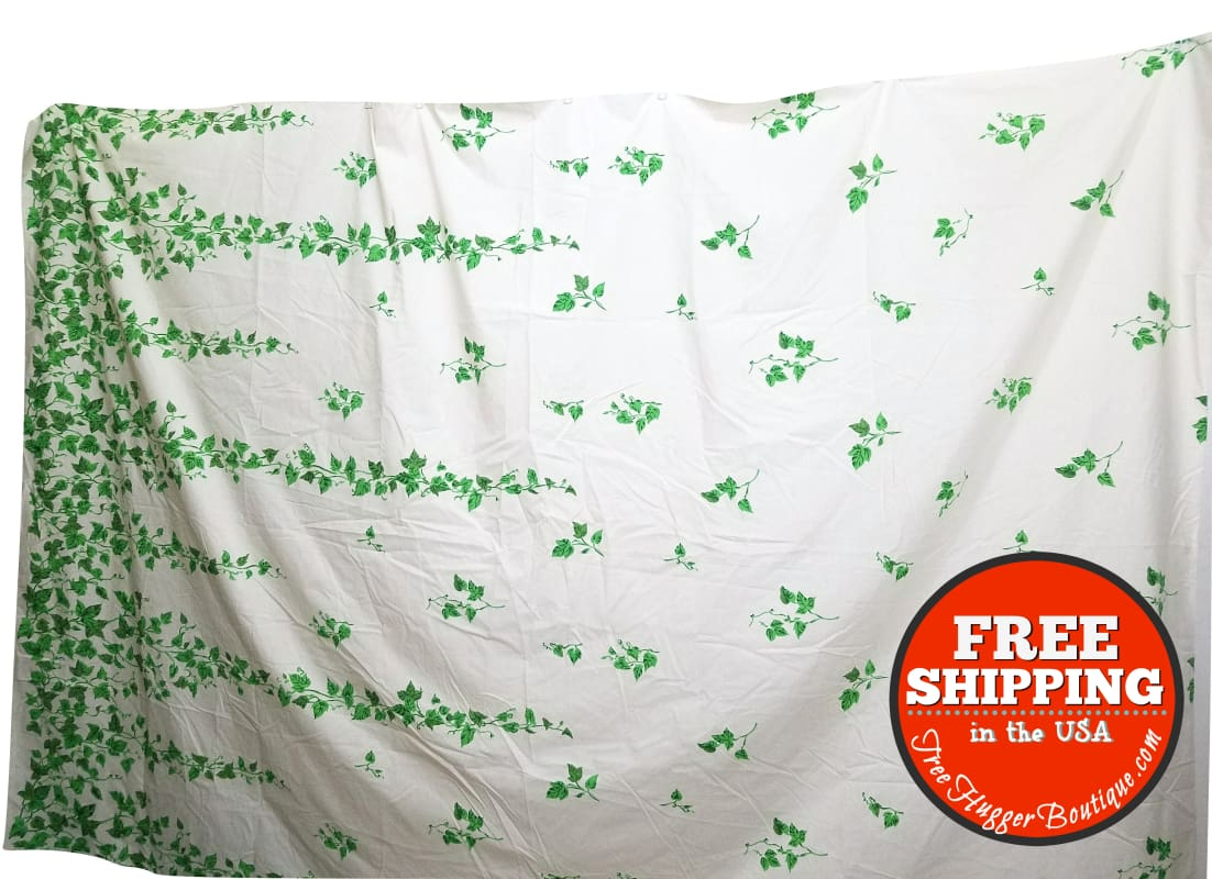 Vintage Ivy Fabric or Flat Sheets (2) - Sheet Set