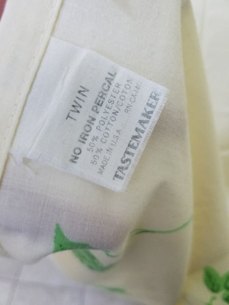 1979 Tastemaker Ivy Twin Flat Sheets (2) - Sheet Set