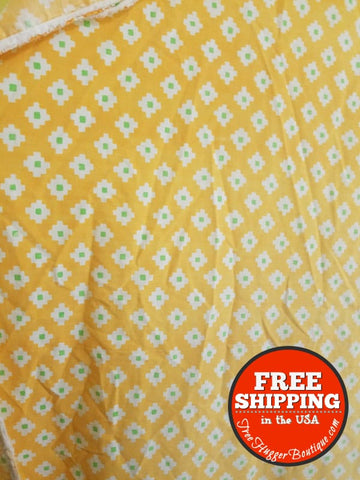 Vintage Martex Full/Double Size Sheet No Iron Set 81ix 104in 60s/70s Orange Mod 4pcs - Sheet Set