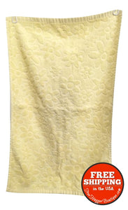 Yellow Flower Power Hand Towel - bathroom towel