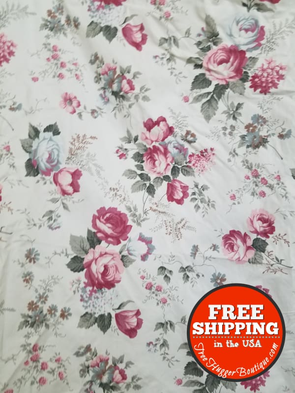 Vintage Pink Rose Curtains - Curtains