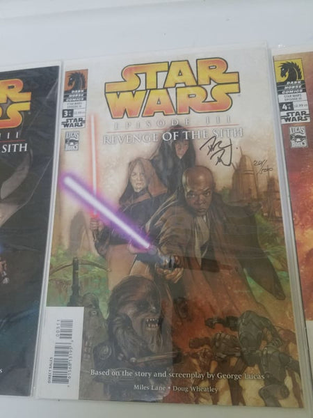 Star Wars Eposode 3 Comics Signed Dave Dorman With Certificate Of Authenticity
