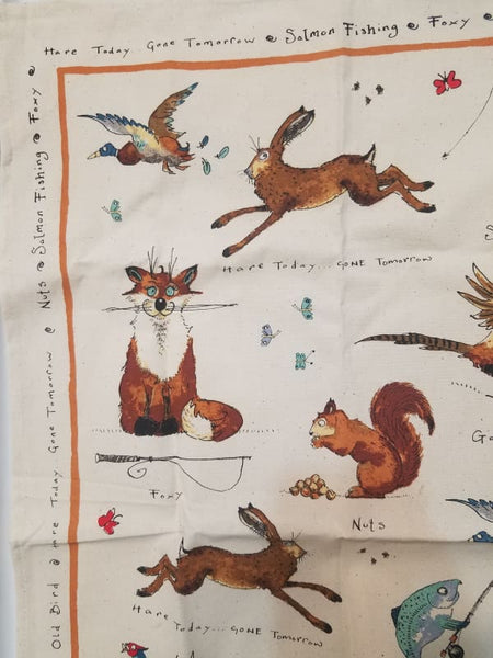 Anne Edwards Dish Kitchen Hand Towel Hare Today Gone Tomorrow