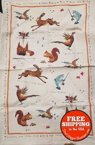 Ulster Weavers 29.1x18.9 Ann Edwards Hare Today Gone Tomorrow Design Linen Tea Towel - kitchen towel
