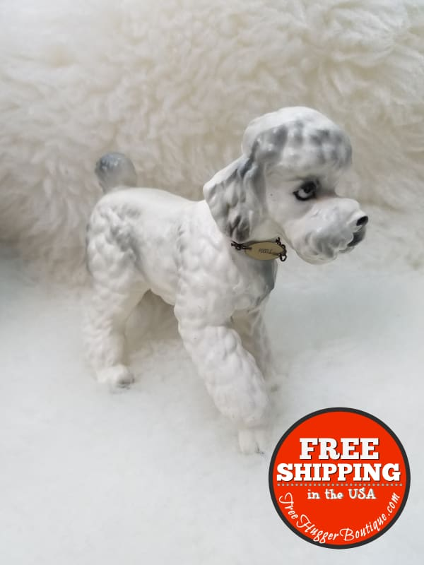 3.5In X 5In Mid Century Standard Poodle Figurine - Collectibles