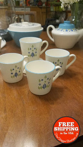3pcs Mid Century Marcrest Swiss Alpine Coffee/Tea Mugs/Cups - Home Decor