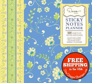 Sticky Notes Planner Madagascar Blue [Paperback] Publications International - Office Supplies
