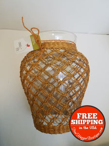 New Debi Lilly Macrame Seagrass Vase - Vase