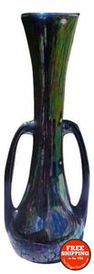 Mid Century Genie Bottle Vase Carnival/Iridescent Glass - Vintage Home Decor