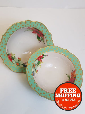The Pioneer Woman Holiday 8.3-Inch Bowls Set Of 2 From 2017 Collection