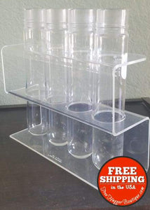 Vintage Corning PYREX Glass Test Tubes and Stand 11mL 16x100mm Round Bottom Culture 9825 - Collectibles