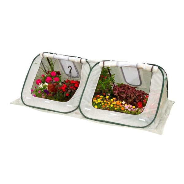 Flowerhouse 3L X 8W X 4H Easy Pop-Up Starter House Clear Greenhouse - Home & Garden Outdoor