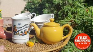 Golden Yellow Ceramic Teapot By Amsterdam Porcelain Works - Home Decor