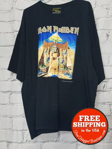 Mens 2Xl Black Iron Maiden T-Shirt By Exclusive Clothing/iron Maiden - Mens Tops